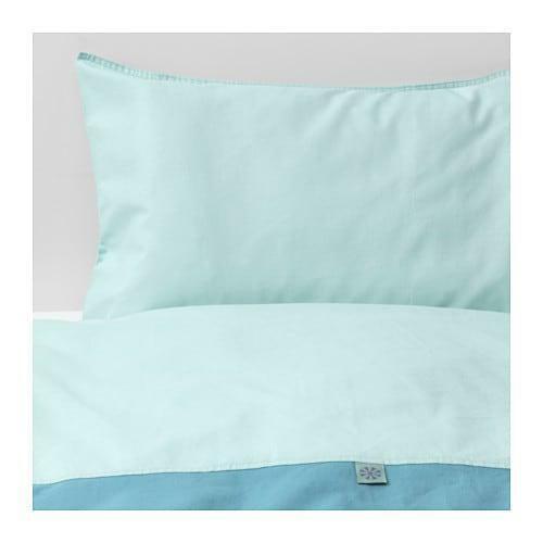 Ikea Tillgiven Crib duvet cover pillowcase Turquoise 603.637.62