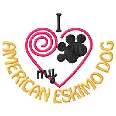 "I ""Heart"" My American Eskimo Dog Sweatshirt 1331-2 Sizes S - XXL"