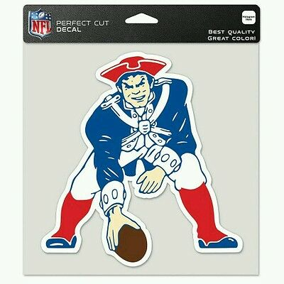 NEW ENGLAND PATRIOTS THROWBACK COLLECTION PERFECT CUT DECAL 8