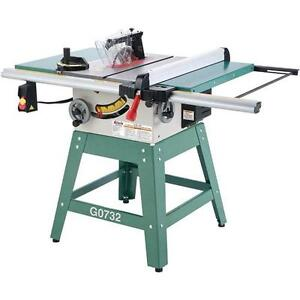 G0732 Grizzly 10 034 Contractor Style Table Saw With Riving Knife And Stand New Ebay
