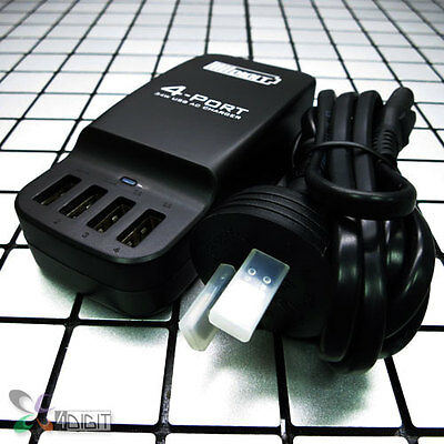 4 Port Desktop Charger Adapter+USB Cable for Samsung GT-N9002 Galaxy Note 3/III