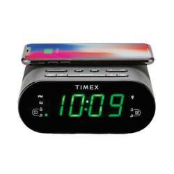 Timex TW500B Alarm Clock With QI Wireless Charging Pad