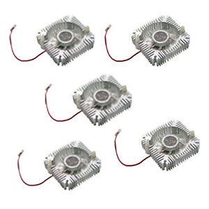 5PCS Heatsink Heat sink with fan for 5W/10W High Power LED light Cooling DC12V