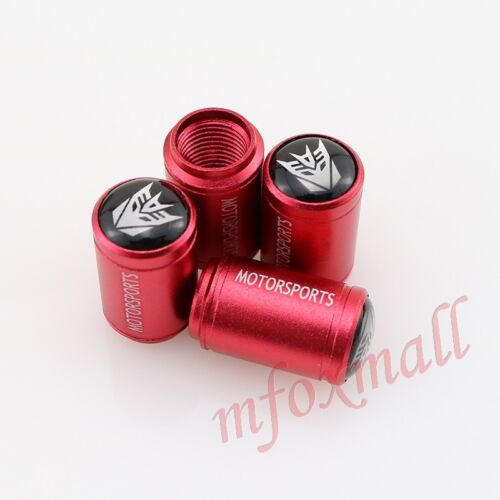 Red Style Car Accessories  Wheel Rim Tire Valve Cap Villain Transformers Autobot