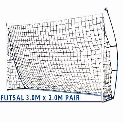 PAIR of ALPHA Gear 3.0m x 2.0m FLEX Portable Goal