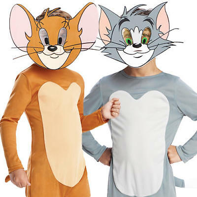 Tom & Jerry Kids Fancy Dress 1940s Cartoon Childrens Boys Girls Costumes Outfits (Tom & Jerry Costumes)