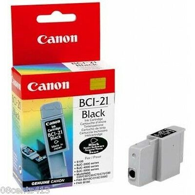 Genuine Canon BCI-21 Black Cartridge BJC Series, Multipass, CFX, & B740 for sale  Shipping to India
