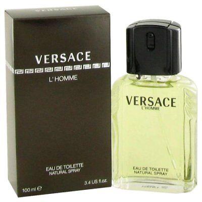 Versace L'Homme By Versace Eau De Toilette Spray 3.4 Oz, Designed for Men