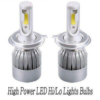 2x H4 LED Headlight High-Low Beam Bulb 9-32V high power 72W White 6000K 12000LM