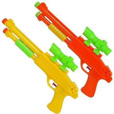 Water Gun Super Soaker Shotgun Style Squirt Blaster Beach/Pool Toy (LOT OF 10X)