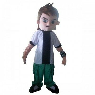 Ben Ten Costume (Ben 10 Ten Cartoon Character Mascot Costume party game Cheerleading dress)