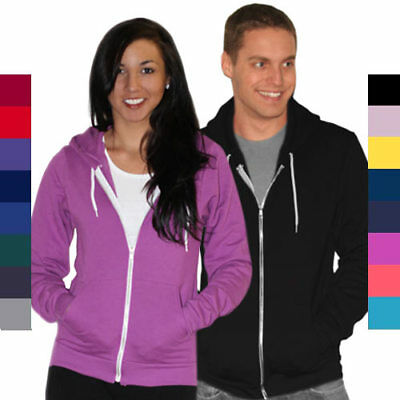 50 Fleece Hooded Sweatshirt - American Apparel Unisex Flex Fleece Zip Hoodie F497 Hooded Sweatshirt 50/50 NEW!
