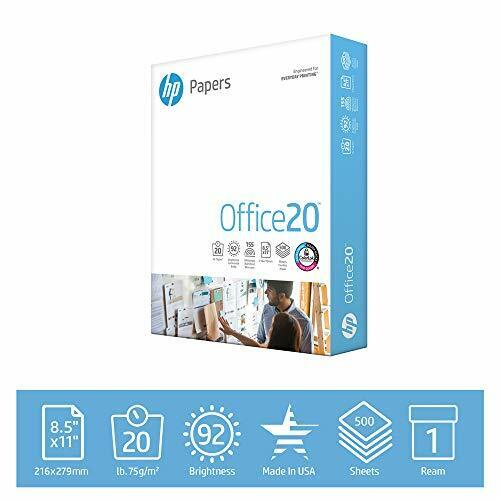 HP Printer Paper 8.5 x 11 | 20 lb - 1 ream - 500 Sheets | 92 Bright - Made in US