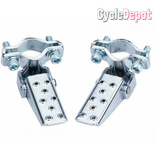 Bicycle Steel Foldable Folding Fork Foot Step Peg BMX Chrome MTB Bike Bicycle
