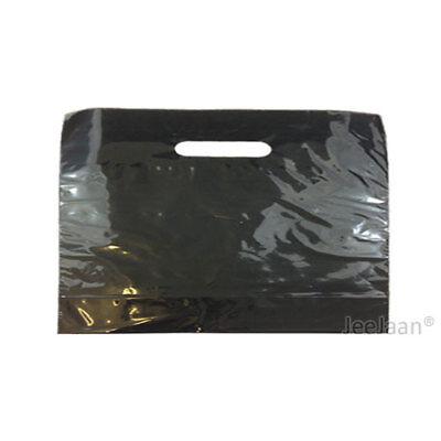 100 Black Plastic Carrier Bags 22