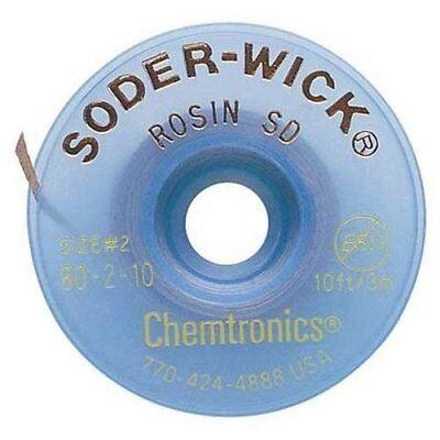 Chemtronics Soder-wick 80 Yellow Rosin Flux Core Desoldering Wick Or Braid - 10