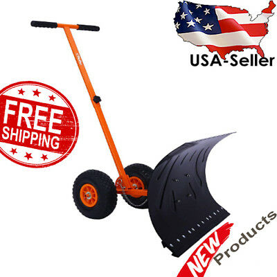 Ohuhu Snow Shovel, Adjustable Wheeled Pusher, Best Rolling Snow Pusher,Orientool