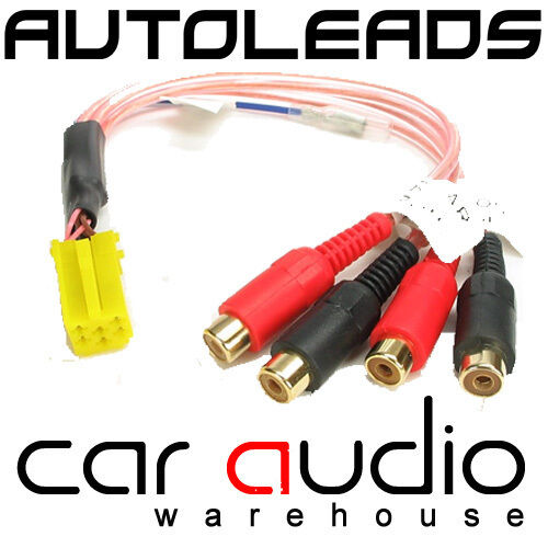 Autoleads PC3-11 Car Stereo Radio Yellow Mini ISO Amplifier RCA Line Output Lead
