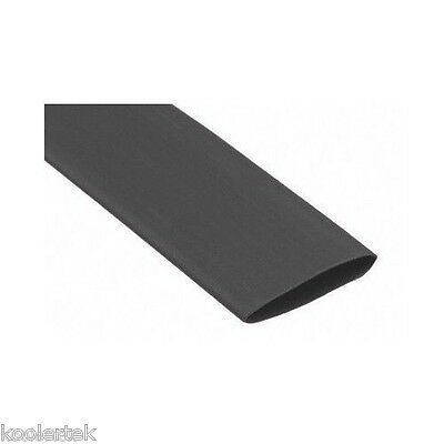 4 Feet Of 1 Inch Black Premium Heat Shrink Tubing - 31 Shrink Ratio
