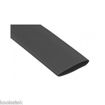 4 Feet Of 1 Inch Black Premium Heat Shrink Tubing - 31 Shrink Ratio