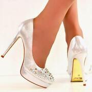 Womens Silver Heels Size 5