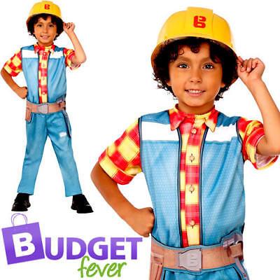 Bob The Builder Costume (Bob the Builder Boys Fancy Dress Book Day Cartoon Character Childs Kids)