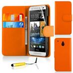 Bookwallet hoes HTC One Mini oranje