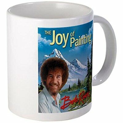 11oz mug Bob Ross - ceramic white 11 ounce coffee cup