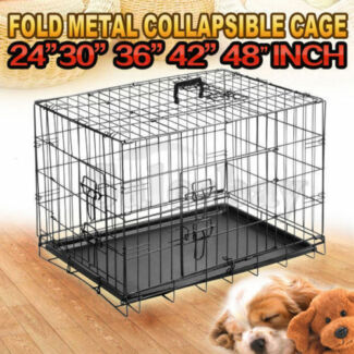 Metal Collapsible Dog Cage Kennel Crate Pet Folding Playpen