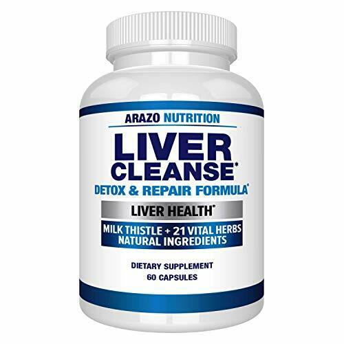 Liver Cleanse Supplement 22 HERBS Support & Detox Milk Thist
