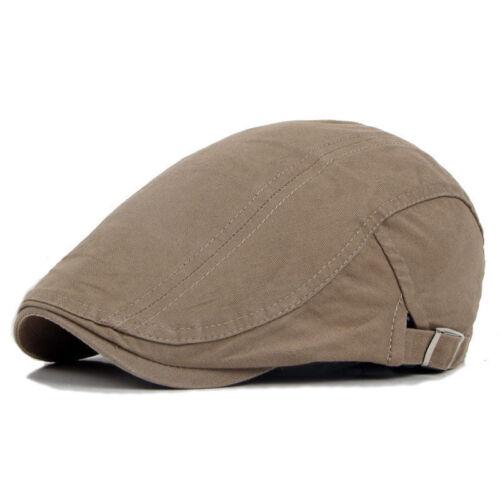 Mens Plain Flat Cap Summer Casual Golf Adjustable Gatsby Newsboy Hat Headwear Clothing, Shoes & Accessories