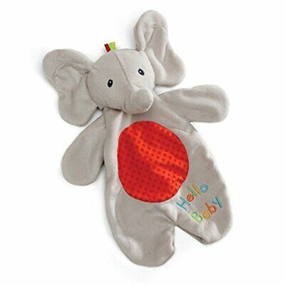 Baby Flappy the Elephant Lovey Plush Stuffed Animal Blanket and Puppet, 11.5""