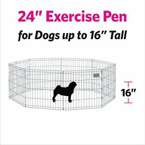 "NEW 24""high wire x-pen DOG PET Playpen enclosure  Indoor/Outdoor"