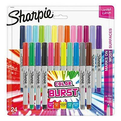 Permanent Markers Sharpie Color Burst Set Of 24 Piece Fine Point Assorted Colors