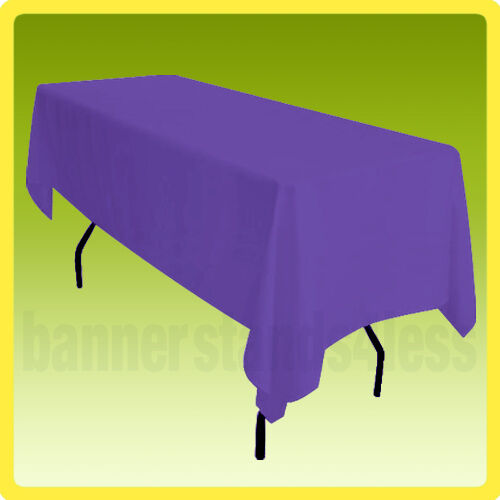 60x102 Table Cover Tablecloth Rectangle Wedding Banquet POLYESTER - PURPLE