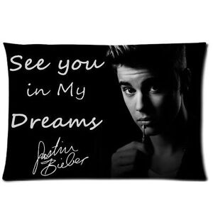 Hot Justin Bieber Pillowcase Pillow Case Cover Home bedding pillow 20x30inch