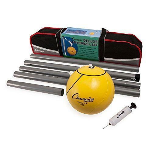 Champion Sports Portable Tetherball Set: Classic Backyard Lawn Beach and Pool