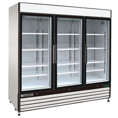 New Maxx Cold Triple Glass Door Reach-in Cooler 81 Mxm1-72r Free Shipping