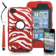 iPod Touch 4th Generation Case Silicone Red