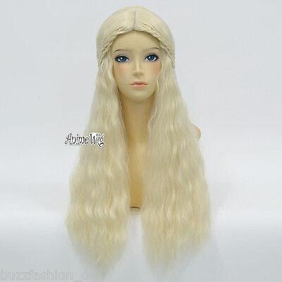ing Style Perücke Cosplay Gothic Daenerys Targaryen Blonde (Daenerys Perücke)