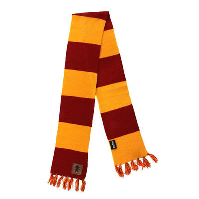 Harry Potter - Gryffindor Patch Striped Scarf NEW Elope
