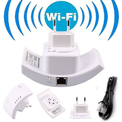 300 Mbit Verstärker N Wifi Repeater Wireless WLAN AccessPoint  2.4GHz 802.11n WF