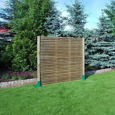 Contemporary Double Slatted Fence Panel 1828x1800mm - 3 Panel Minimum Order