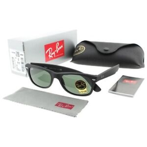 NEW Ray-Ban RB2132 622 52 New Wayfarer Black Rubber Sunglasses