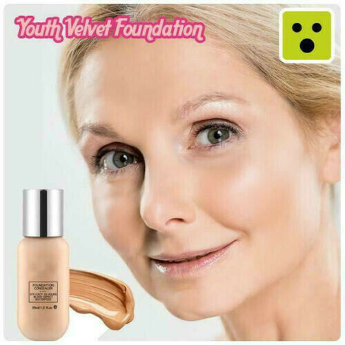 Youth Velvet Foundation Professional Full Cover Matte Base Make Up Waterproof