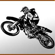 Wandtattoo Motocross