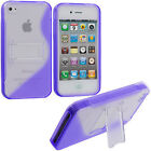 Silicone/Gel/Rubber Cases & Covers with Kickstand for iPhone 4s