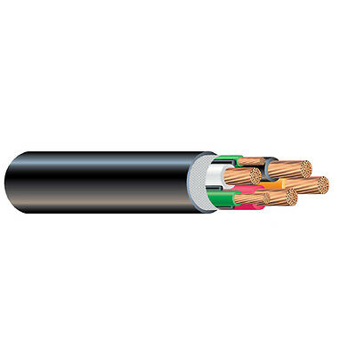 Per Foot 6 Awg 4 Conductor Type G Round Power Cable 2000v 90c Black Cable Wire