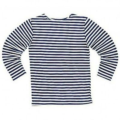 SALE RUSSIAN MILITARY ARMY NAVY STRIPED DARK BLUE T-SHIRT long sleeve