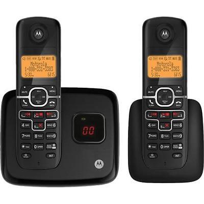 Motorola L702M DECT 6.0 Cordless Phone 2 Handset With Digital Answering Machine